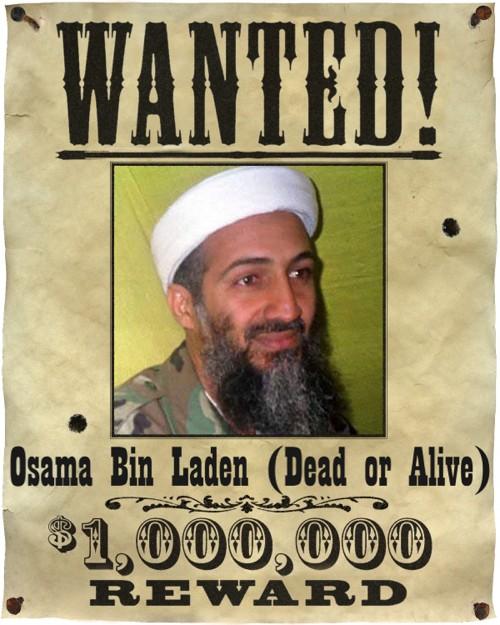 bin laden poster. that killed in Laden.