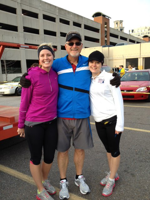 Running the St. Jude's Half-Marathon with the two loveliest and best daughters in the world.